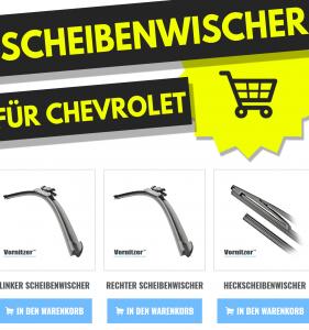 CHEVROLET NUBIRA Scheibenwischer (Wischerblätter) + Heckscheibenwischer