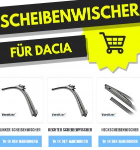 Dacia Sandero Scheibenwischer (Wischerblätter) + Heckscheibenwischer