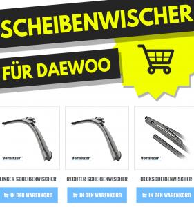 Daewoo Tacuma Scheibenwischer (Wischerblätter) + Heckscheibenwischer