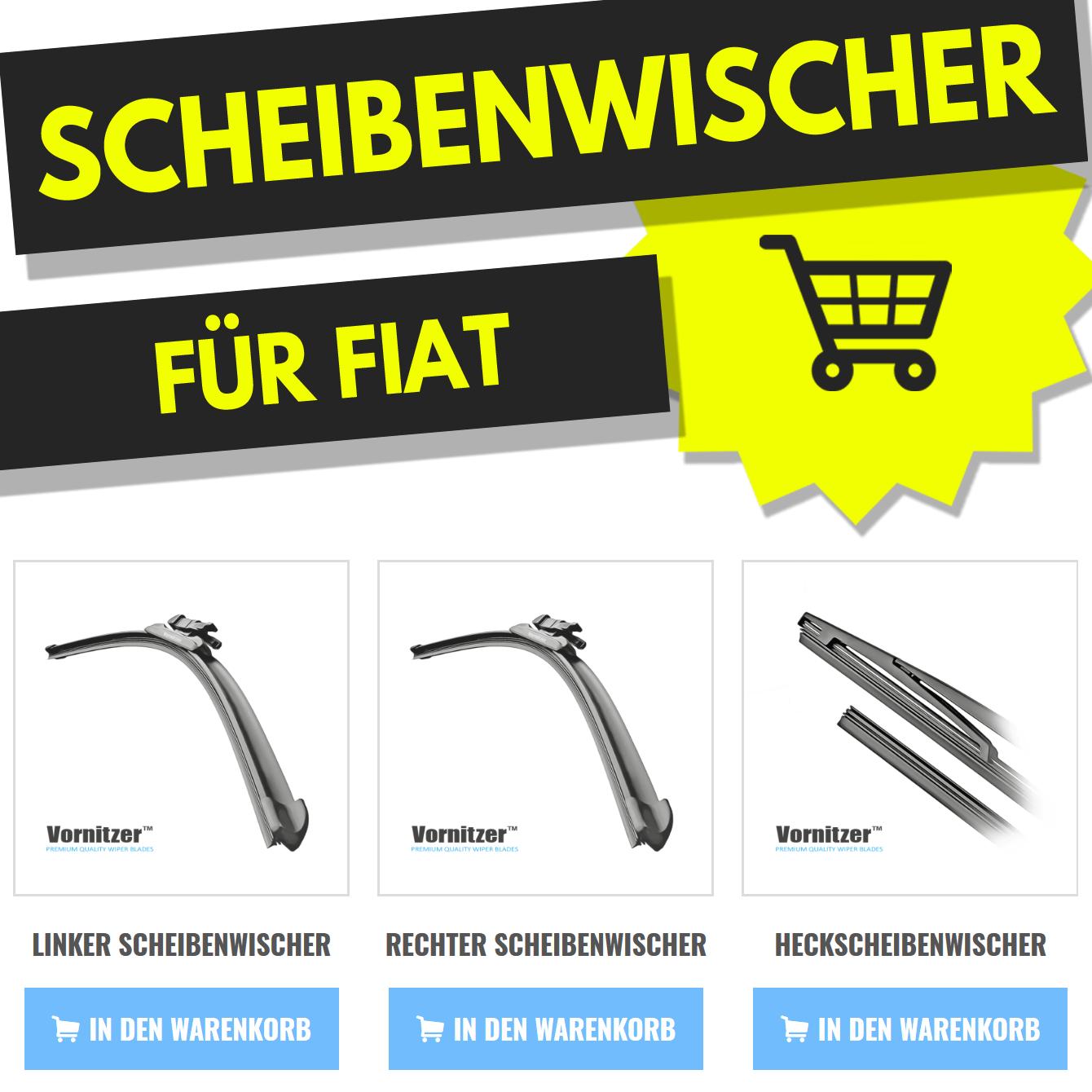 Heckwischer Wischer HINTEN Metallbügel 500mm 1x Premium CLASSIC Scheibenwischer
