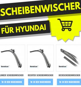Hyundai Santa Fe / Grand Santa Fe Scheibenwischer (Wischerblätter) + Heckscheibenwischer