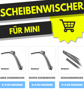 Mini Roadster Scheibenwischer (Wischerblätter) + Heckscheibenwischer