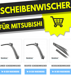 Mitsubishi Carisma Scheibenwischer (Wischerblätter) + Heckscheibenwischer