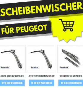 PEUGEOT 108 Scheibenwischer (Wischerblätter) + Heckscheibenwischer
