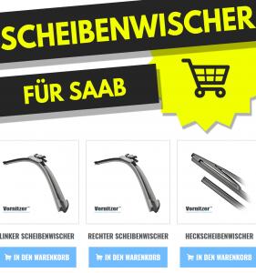 SAAB 9000 Scheibenwischer (Wischerblätter) + Heckscheibenwischer