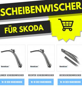 SKODA YETI Scheibenwischer (Wischerblätter) + Heckscheibenwischer