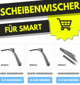 SMART ForTwo Scheibenwischer (Wischerblätter) + Heckscheibenwischer