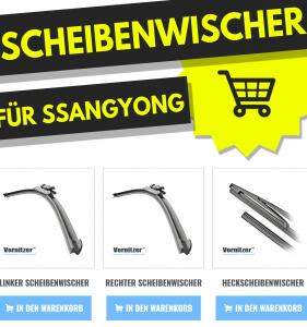 SSANGYONG TIVOLI Scheibenwischer (Wischerblätter) + Heckscheibenwischer