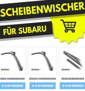 SUBARU XV Scheibenwischer (Wischerblätter) + Heckscheibenwischer