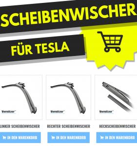 TESLA MODEL 3 Scheibenwischer (Wischerblätter) + Heckscheibenwischer